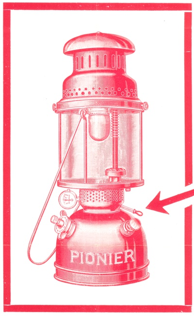 Image of 1927 model Pionier 4615 lantern by Continental Licht