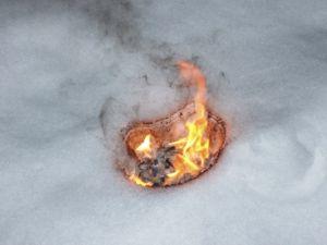 Schnee brennt gut!