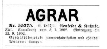 Warenzeichen AGRAR