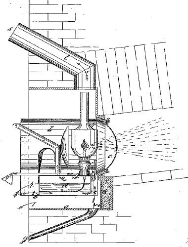 Oberles Petroleum-Backofenlampe Zeichnung aus Patentschrift