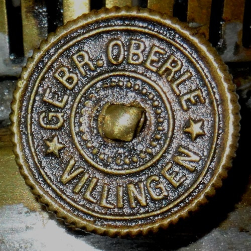 Die Markung des Dochttriebrads: Oberle Villingen